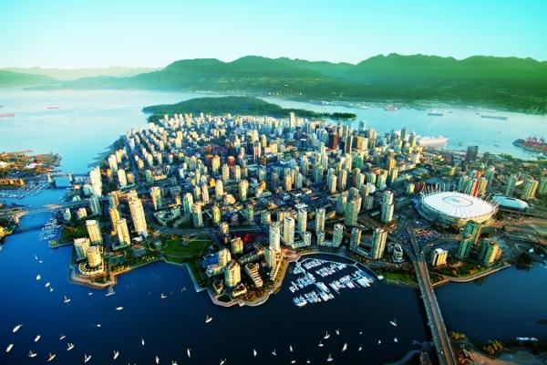 VISITARE VANCOUVER: DOWNTOWN DALL'ALTO