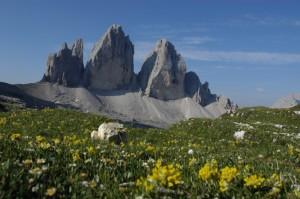 Estate: panorama delle Tre cime di Lavaredo - Trentino Alto Adige Alta Val Pusteria