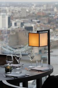 Panorama di Londra dal ristorante Oblix