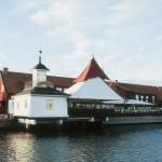 L'esterno sul mare del ristorante Sjömagasinet a Goteborg