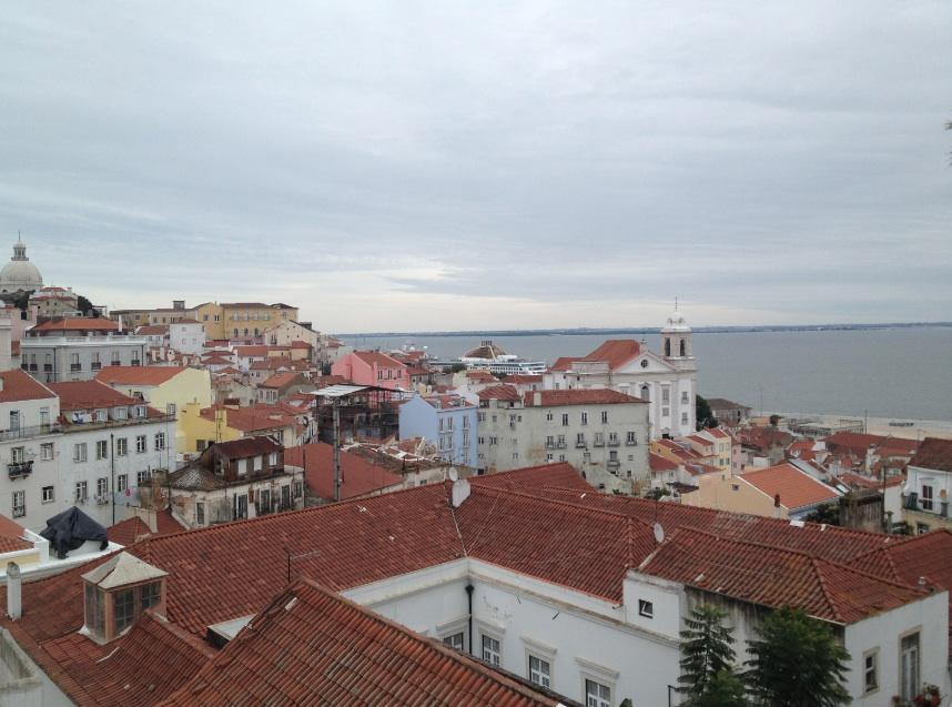 Lisbona Miradouro Santa Luzia