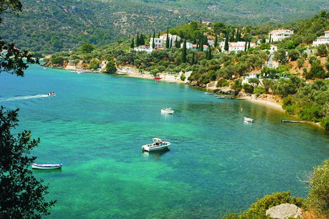 Baia di Kerveli, Samos. Credit Keveli Village Hotel