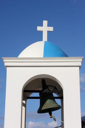 Isola di Samos. Campanile di una chiesa ortodossa. Foto di Marco Restelli  copia