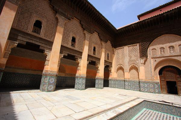 L'antica Medersa Ben Yussef a Marrakech. Foto di Elena Bianco