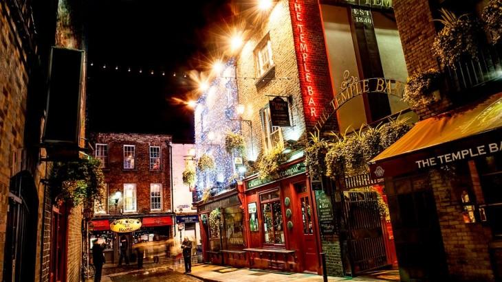 Dublino a Natale - Temple Bar