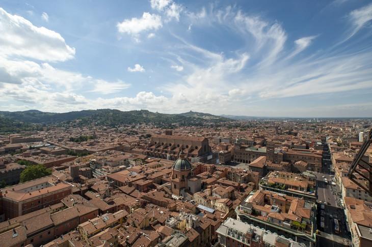 Panorama Bologna da torre Asinelli