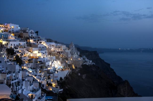 Santorini: Fira di notte