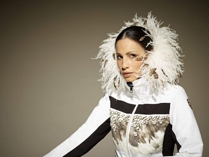VIST Skichic Limited Ed. AMELIA Ins.Ski Jacket with feathers