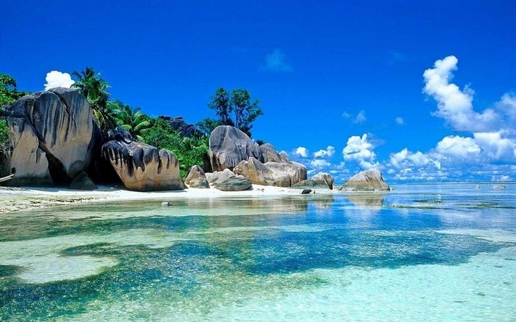 In spiaggia a Sri Lanka