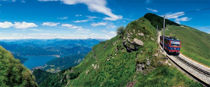 Tessin: Zahnradbahn Monte Generoso
