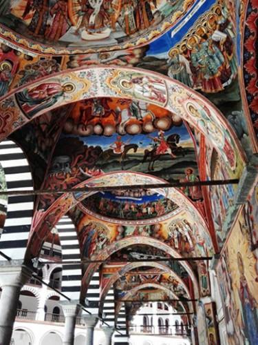 affreschi Monastero di Rila