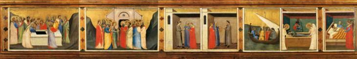 1_Bernardo Daddi Storie della sacra Cintola Prato Museo di Palazzo Pretorio