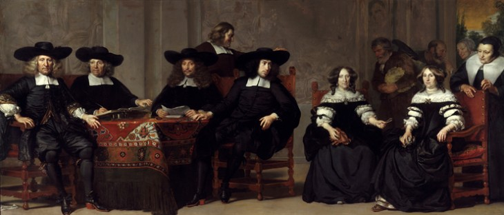Adriaen Backer (1630-1684) The governors and governesses of the old men- and womenÔÇÖs house, 1676.