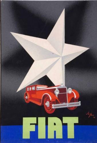 Sepo, Fiat, bozzetto per manifesto, 1928