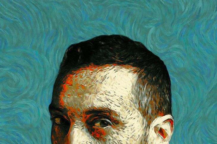 Un Van Gogh che racconta al pubblico i passaggi fondamentali della sua vita, con un intenso flusso emotivo, proprio come un quadro, a forti pennellate.