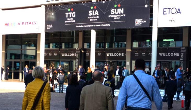 Dal 9 all'11 ottobre  il quartiere fieristico romagnolo sarà interamente dedicato all'industria turistica. In contemporanea TTG Travel Experience, SIA Hospitality Design e SUN Beach&Outdoor Style.