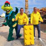 Al via la costruzione di LEGOLAND Water Park a Gardaland, posato il primo mattoncino LEGO nel cantiere di costruzione
