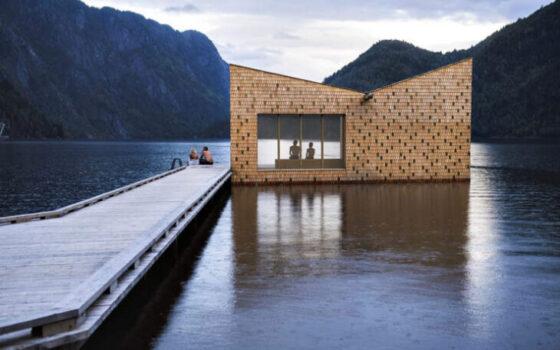 In Norway saunas…float