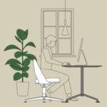 Uno spazio adeguato per il lavoro da casa